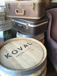 Barrels form the local Koval Distillery